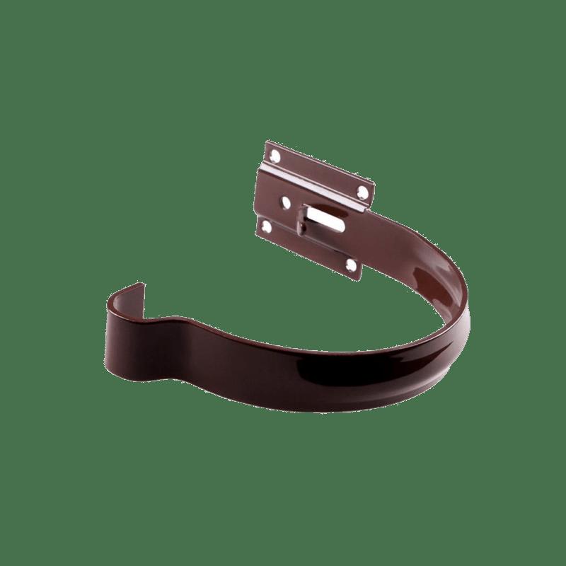 Держатель желоба металлический малый Profil 130 мм коричневый