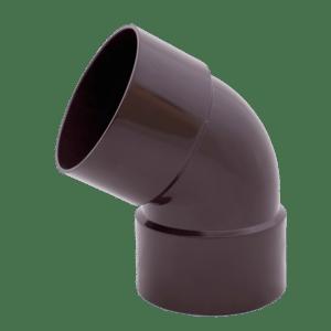 Колено 60° Profil 75 мм двухраструбное коричневое