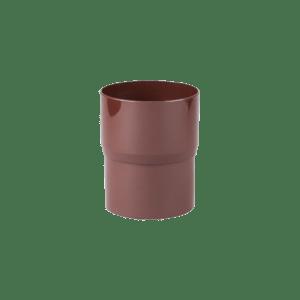 Соединитель трубы Profil 90 мм коричневый