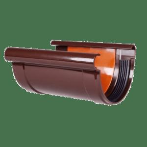 Соединитель желоба Profil 90 мм коричневый