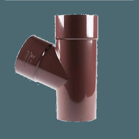 Тройник Profil 75/75/60 коричневый