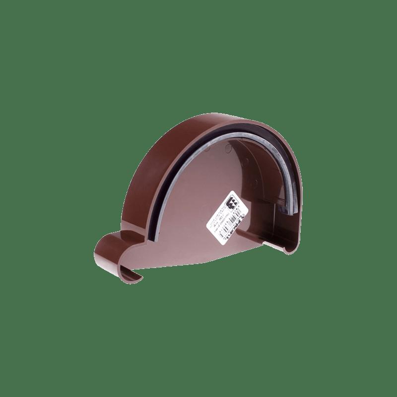 Заглушка желоба правая/левая Profil Р 90 мм коричневая