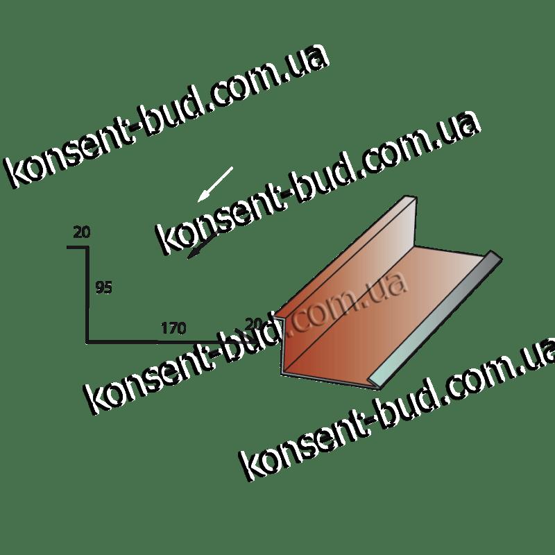 НПОД-1 Нижняя планка обход дымохода (2м. пог.)