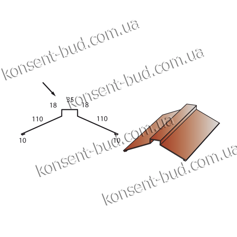 К-1 Планка конька (2м. пог.)