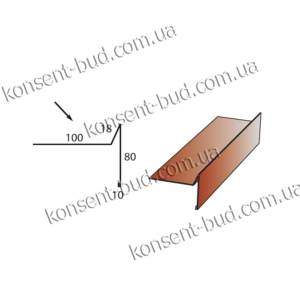 КМЧ-1 Капельник под металлочерепицу (2м. пог.)