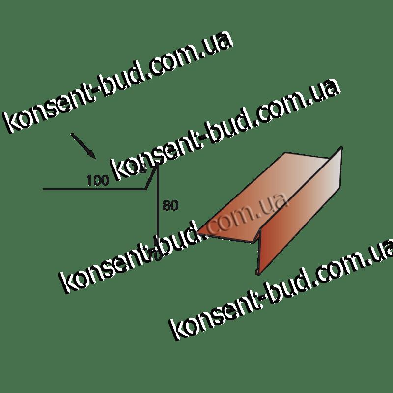ТБЧ-1 Торцевая под битумную черепицу (2м. пог.)