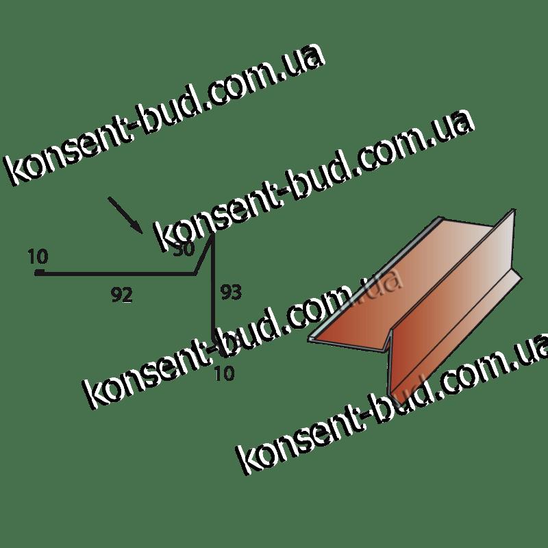 ТБЧ-3 Торцевая под битумную черепицу (2м. пог.)
