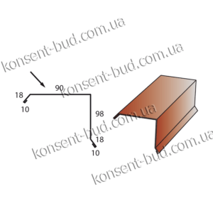 ТПП Торцева планка прямая (2м. пог.)